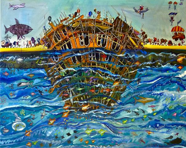 Under-worship, oil on canvas, 2011