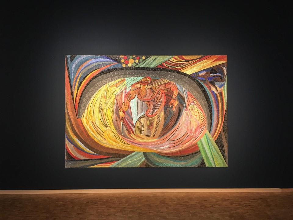 Otto Freundlich, Die Geburt des Menschen, 1919 Mosaik, Photo @ # Horst und Edeltraut