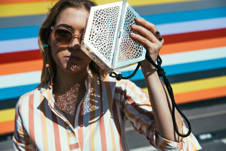 Sunglass Straps + Filigree Bag