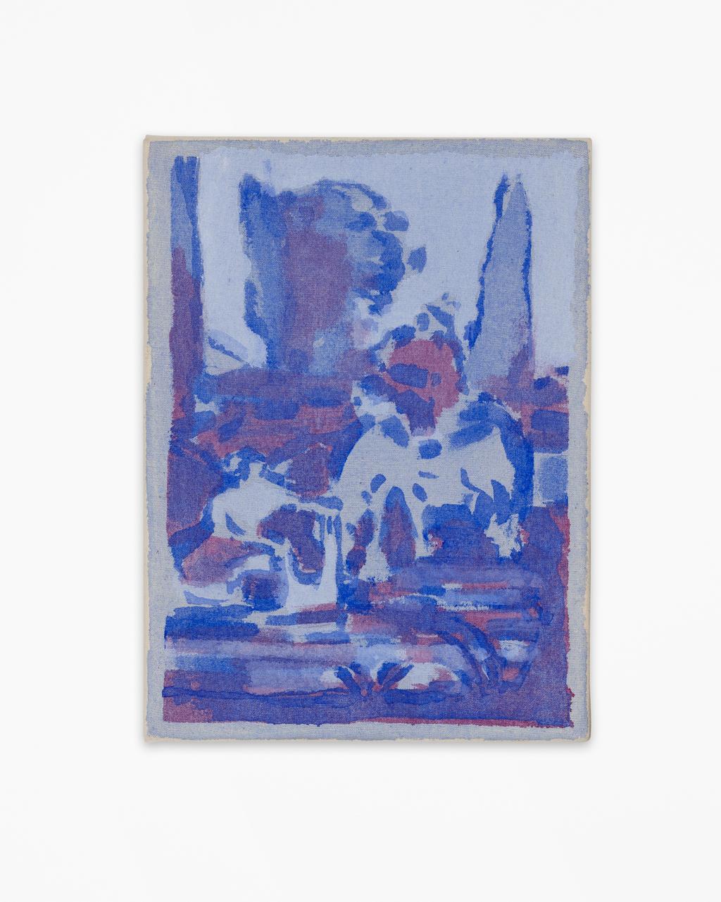 """© Cosima zu Knyphausen, El Gran Cuadro (donde el huaso dice """"¿con que lavando?"""", ante lo que la lavandera responde ingenuamente: """"y con jabón""""), 2017, Photo: graysc.de"""