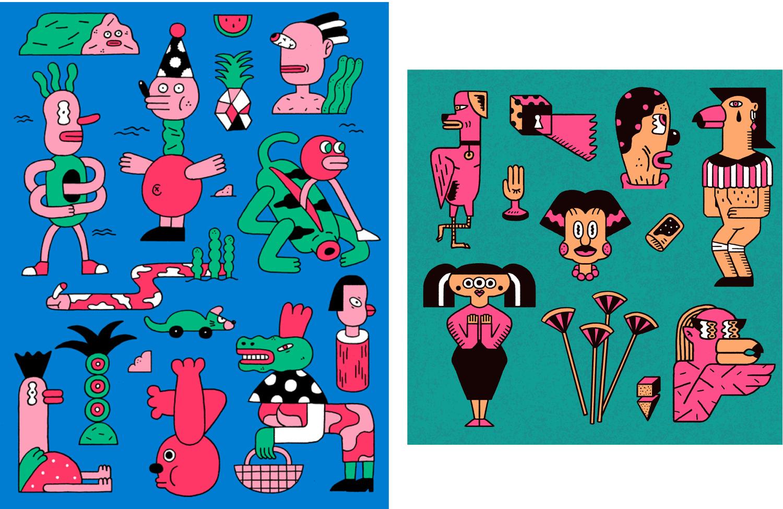 Sketchbook Illustrations Soña lee © 2016