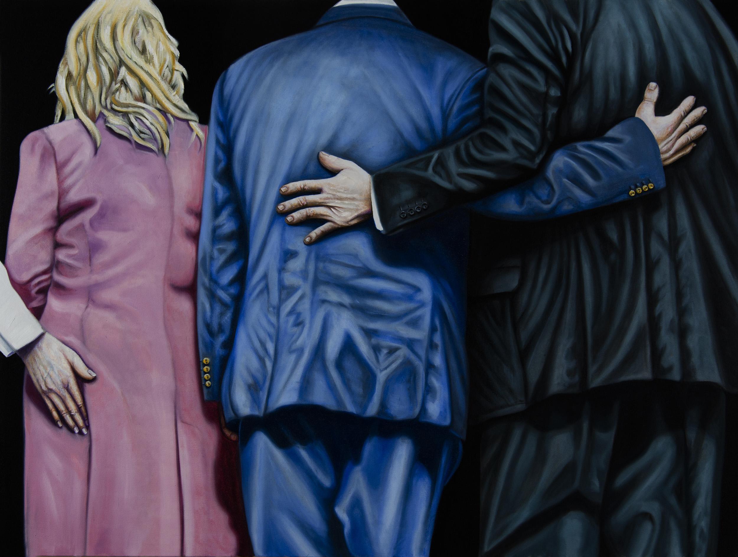 The hug, oil on canvas 120x90 cm, 2017