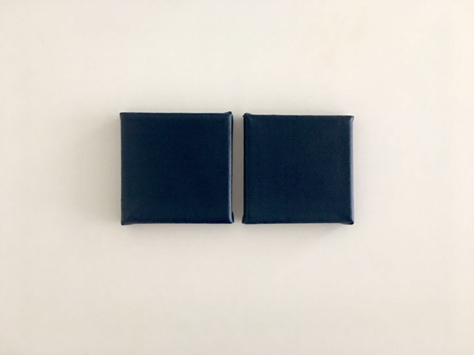 Deep I : II (Diptych), 10 x 10 cm (x2) (2017)  Acrylic (15 layers) on canvas