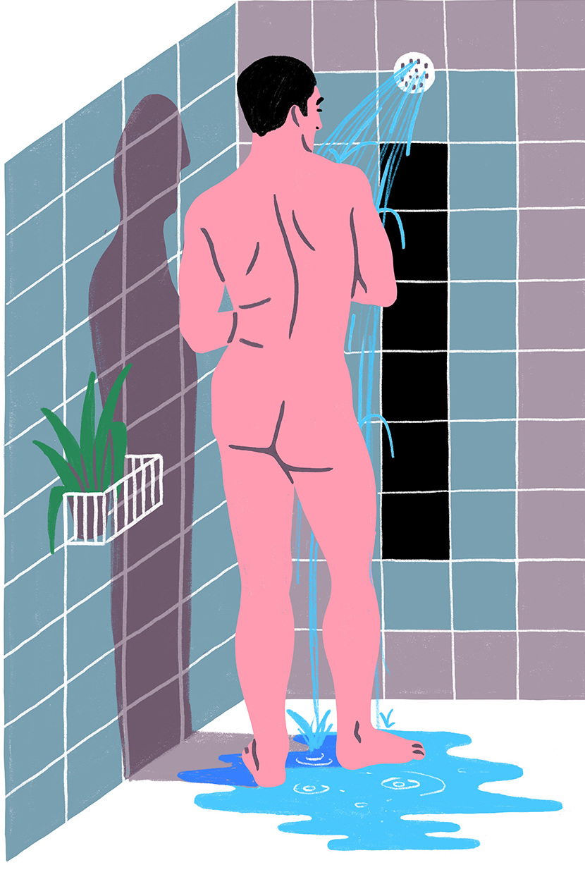 Joel Burden - Man in Shower, 2017