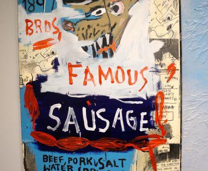 Jean-Michel Basquiat, Brother's Sausage, 1983, photo ©Alexander Moers