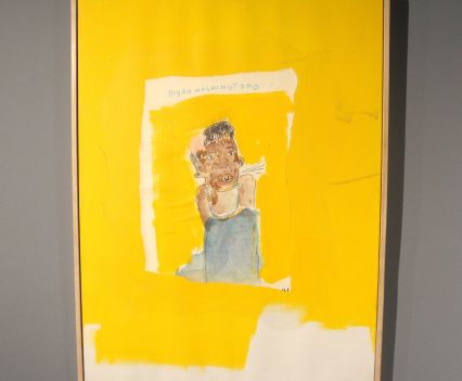 Jean-Michel Basquiat, Dinah Washington, 1986, photo ©Alexander Moers