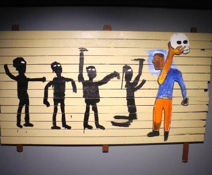 Jean-Michel Basquiat, Procession, 1986, photo ©Alexander Moers