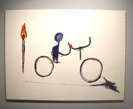 Jean-Michel Basquiat, Untitled (Bicyclist), 1984, photo ©Alexander Moers