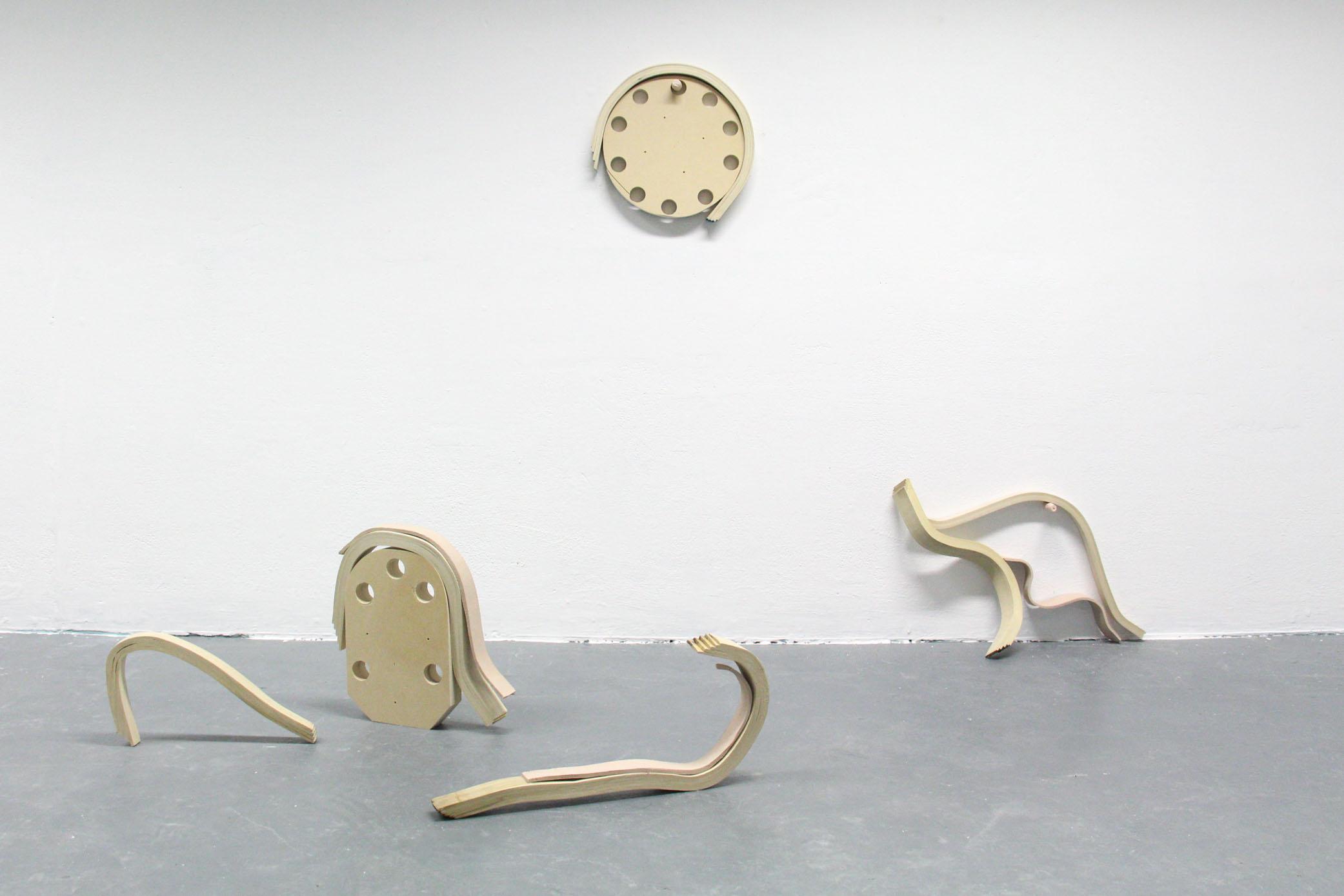 Emily Stollery, Bend, Glue, Prop, Screw, 2017