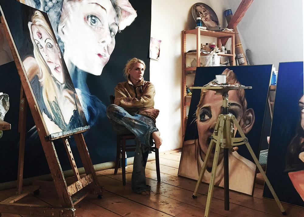 Charlie Stein Atelier Foto von Charlie Stein