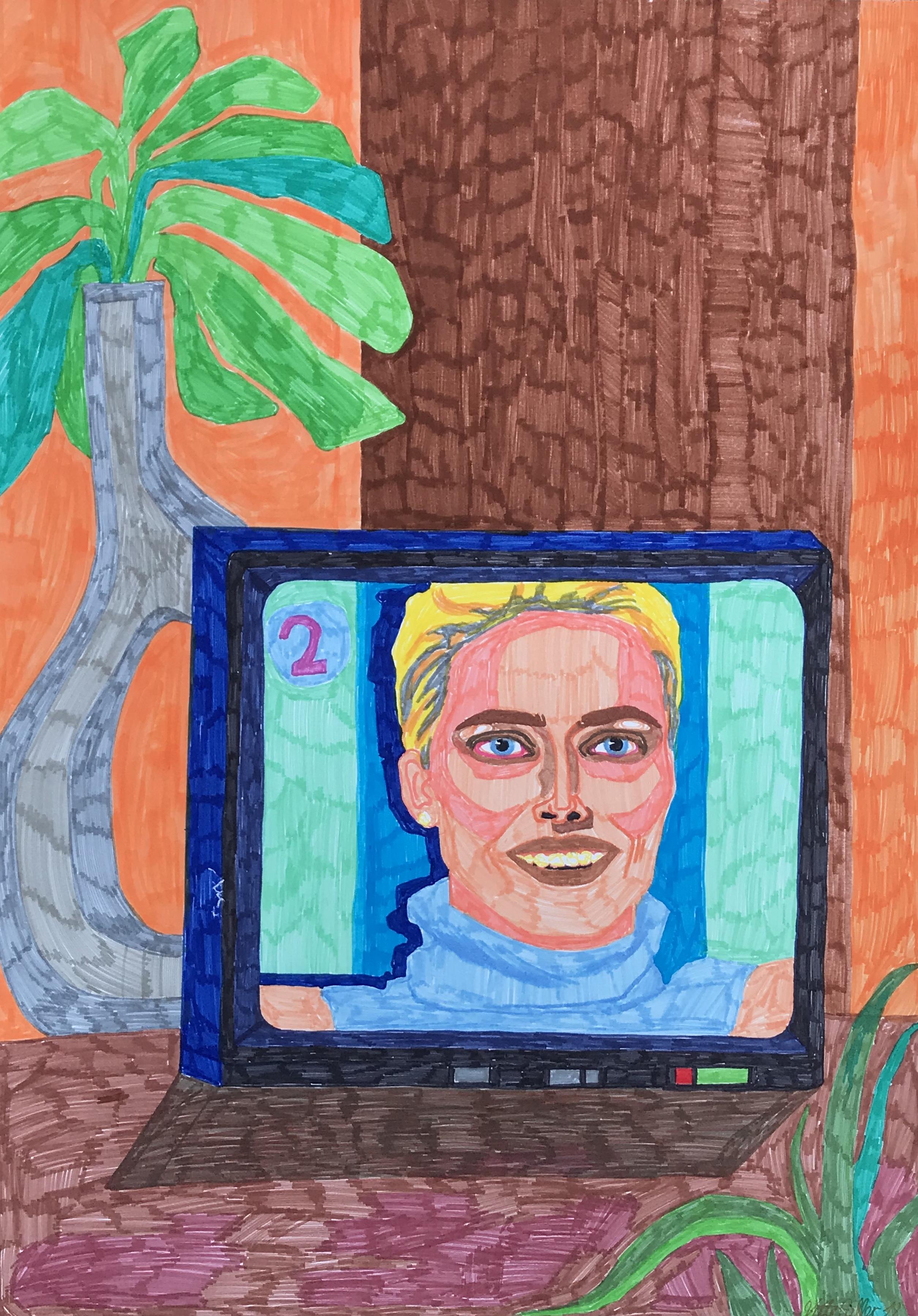 Vilte Fuller, Watching TV, 2018