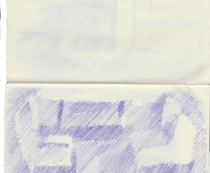 Chairs, Biro on Paper, 13 x 21cm, 2018
