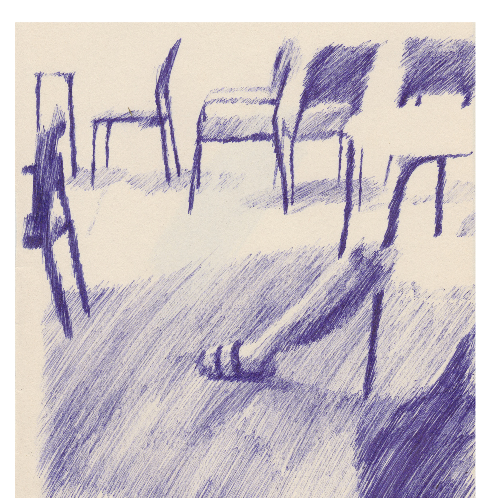 Hot Seats_Biro on Paper_14.8 x 21cm, 2018_