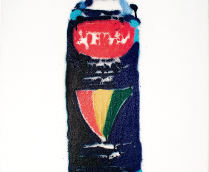 "powerbar bottle // ""power"" / 2018 / Acrylic/Spray on canvas © Laurentius Sauer"
