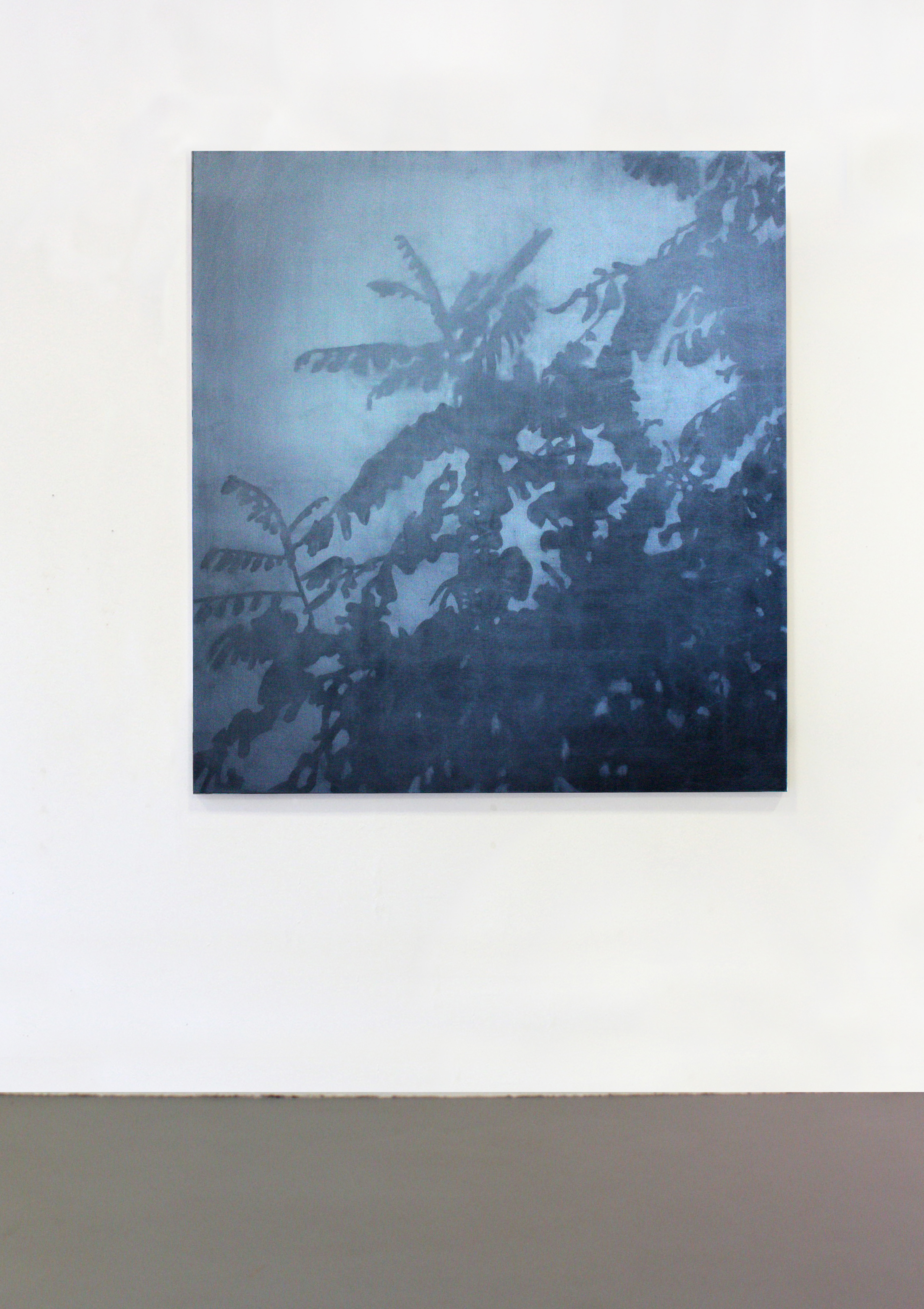 Clément Davout, La demie obscurité du dehors,2019, oil on vanvas, exhibition view, courtesy Galerie Laure Roynette