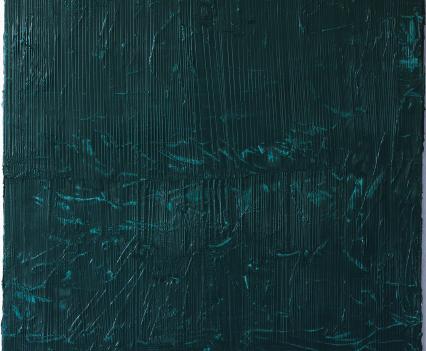 Felix Becker, untitled (shores), 2019, oil on linen, 105 x 90 cm