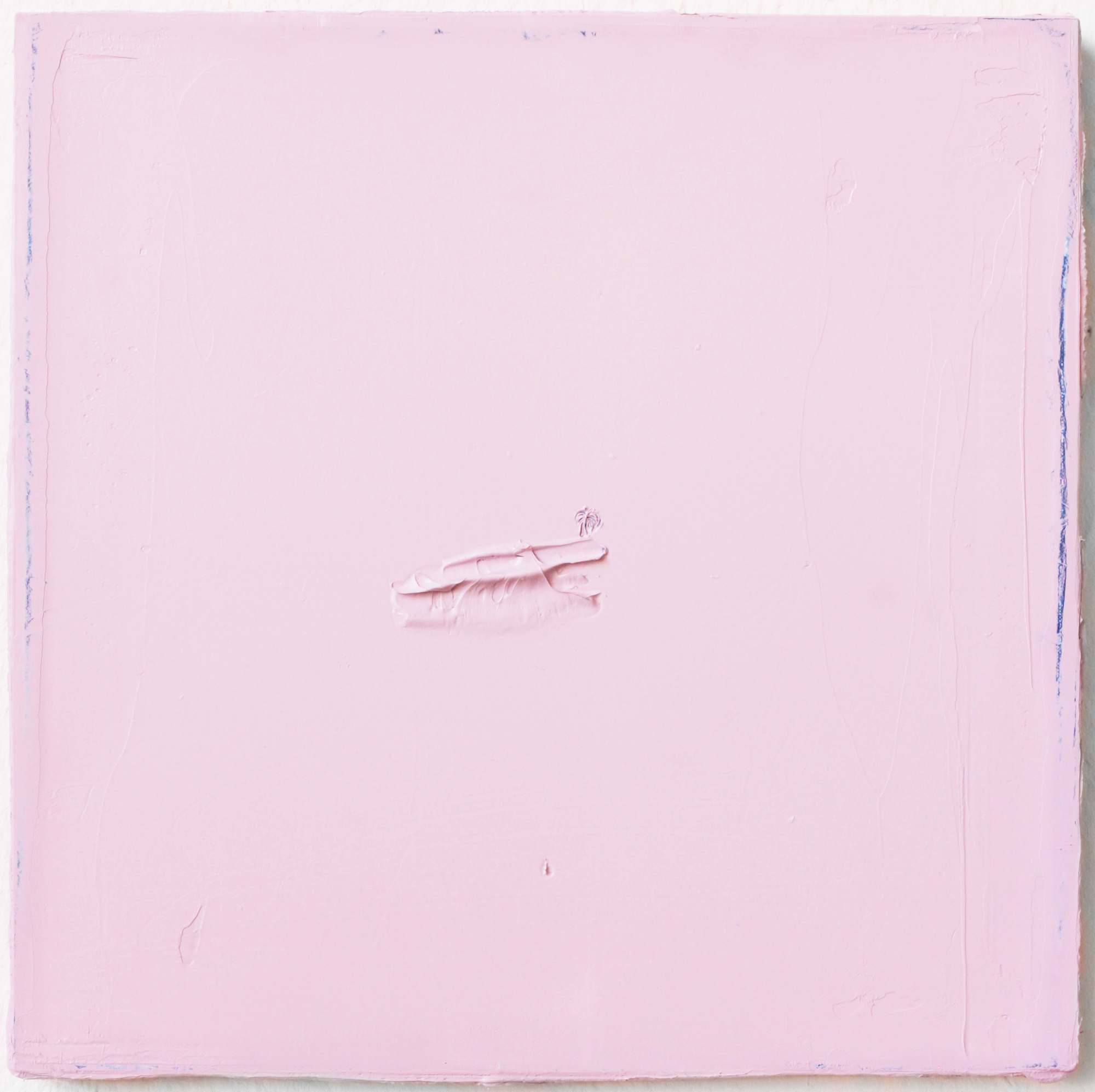 Felix Becker, untitled, (Palm Piece), 2019, Oil on paper on linen, 50 x 50 cm Felix Becker, untitled, (Palm Piece), 2019, Oil on paper on linen, 50 x 50 cm