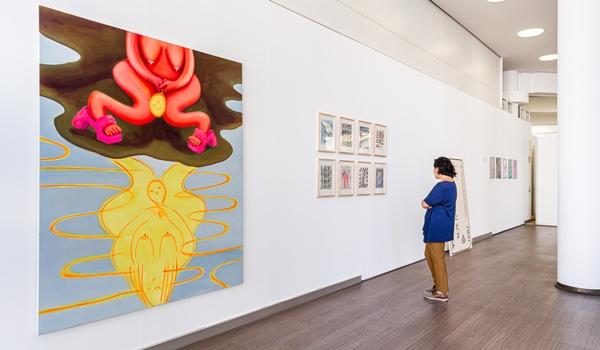 Tamara Malcher, exhibition view, Reflection POP UP Volksbank Münsterland, 2020