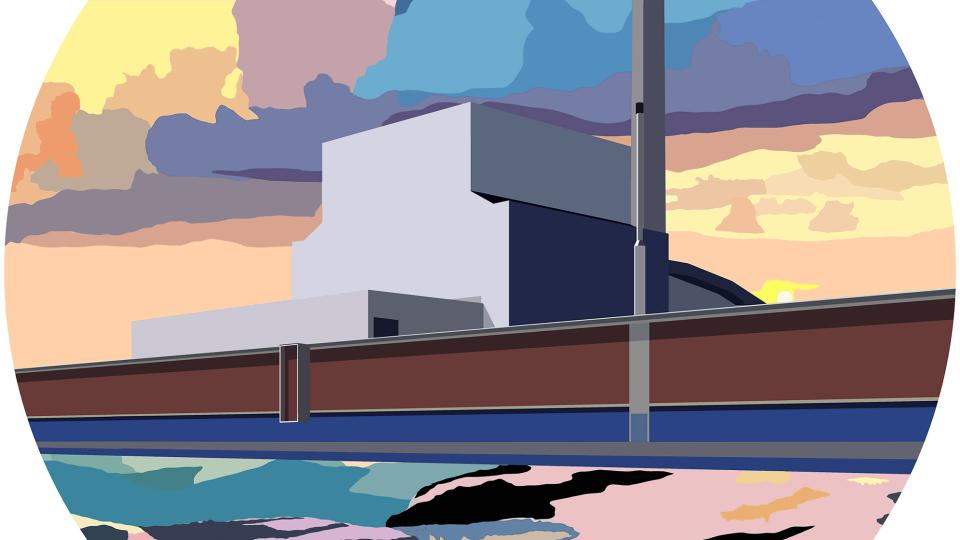 © Marion Sagon, Sea sunset &   factory, 2020