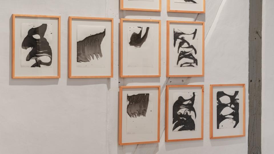 ©Maximilian Neumann, Pampas (Luthe) I-IX 2016 Tusche auf Papier, Kirschholz- Rahmen 25x34cm | 49,5x38,5cm