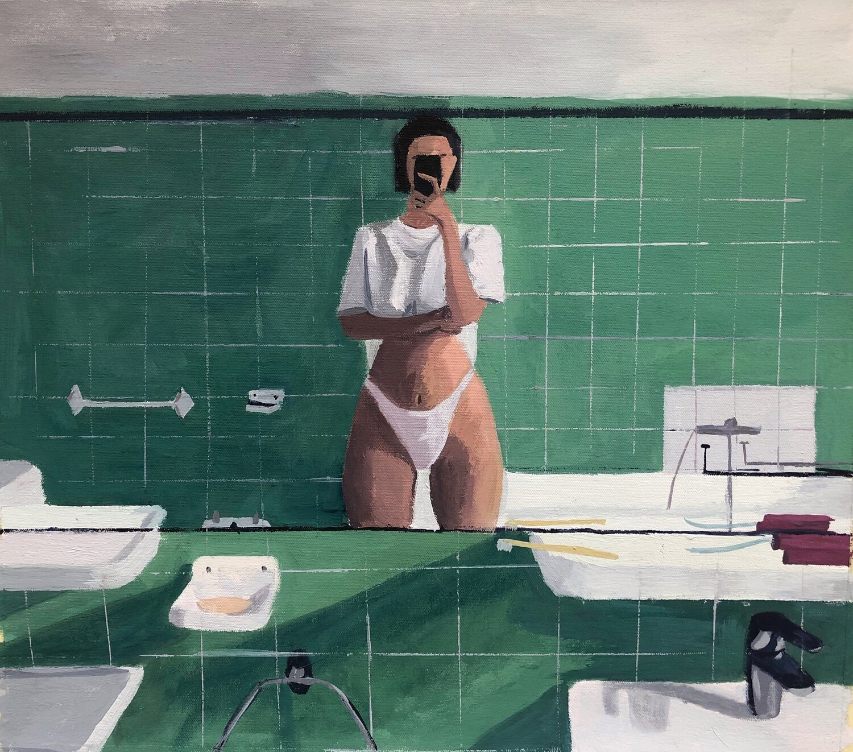 © Anna Pakosz, Bathroom Selfie, 2020